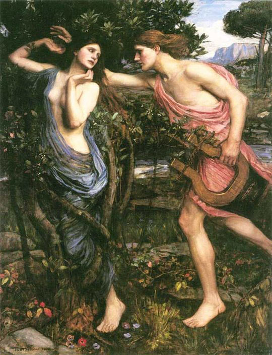 John William Waterhouse: Apollo and Daphne - 1908