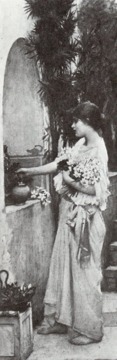John William Waterhouse: Arranging Flowers - 1890