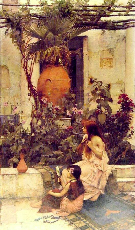 John William Waterhouse: At Capri - 1890