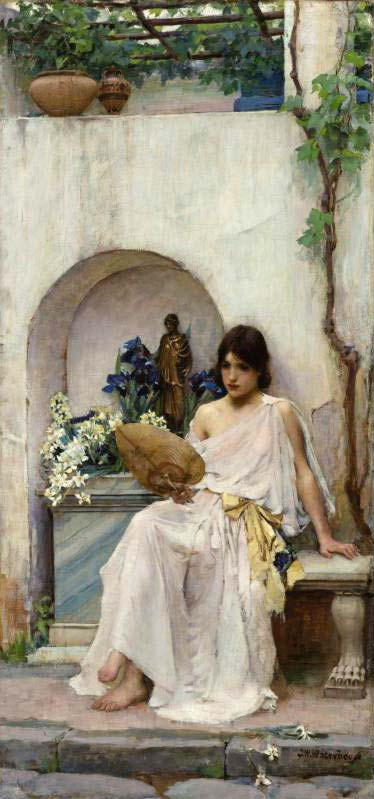 John William Waterhouse: Flora [white dress] - 1890