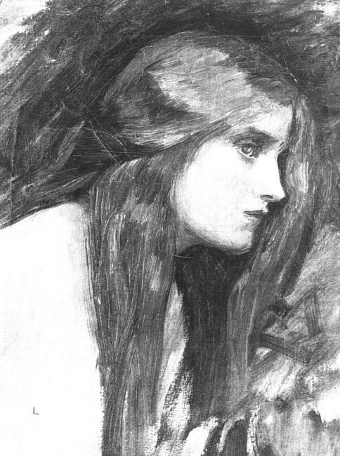 John William Waterhouse: Hylas and the Nymphs (study 1) - 1896