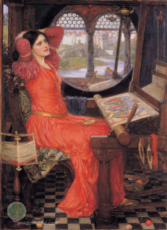 John William Waterhouse: I am Half-Sick of Shadows - said the Lady of Shalott - 1915