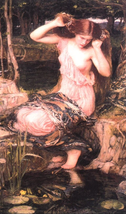 John William Waterhouse: Lamia [by the pond] - 1909