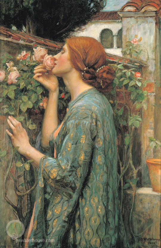 John William Waterhouse: My Sweet Rose (a.k.a The Soul of a Rose) - 1908