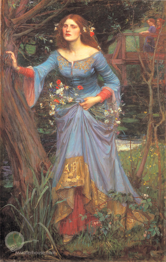 John William Waterhouse: Ophelia [vestido azul] - 1905
