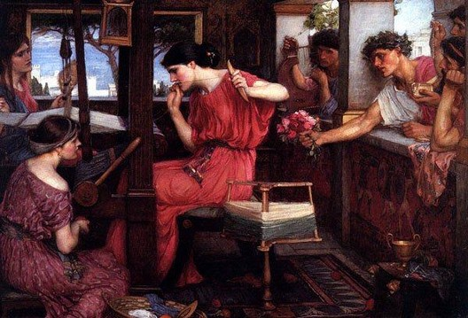 John William Waterhouse: Penelope and the Suitors - 1912