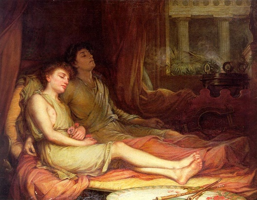 John William Waterhouse: Sleep and His Half Brother Death - 1874