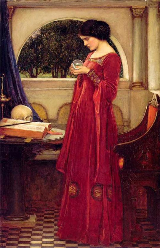 John William Waterhouse: The Crystal Ball [with the skull] - 1902