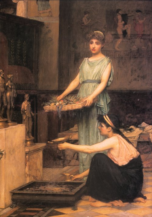 John William Waterhouse: The Household Gods - 1880 « Paintings