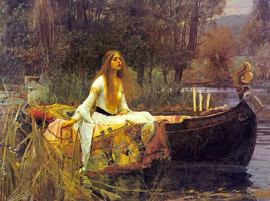 John William Waterhouse: The Lady of Shalott [on boat] - 1888