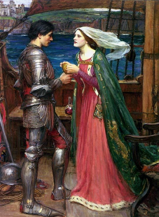 John William Waterhouse: Tristan and Isolde Sharing the Potion - 1916